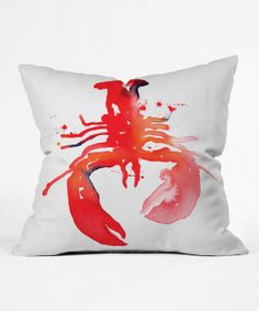 red lobster throw pillow.