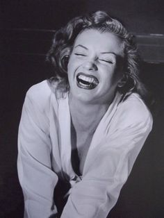Marilyn performing an acting exercise for Laughing at Good Joke, Hollywood, California, 1949.