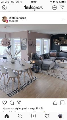 living room color scheme ideas Love the look of multiple paint colors on the walls Home Living Room, Apartment Living, Living Room Designs, Living Room Decor, Living Spaces, Bedroom Decor, Pinterest Home, Home Interior Design, House Design