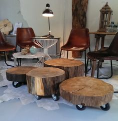 hoe maak je een boomstam tafel Archieven - CreativeOpen