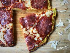 Białkowo-tłuszczowa PIZZA Z CUKINII Keto Dinner, Atkins, Vegan Recipes, Vegan Food, Pizza, Steak, Paleo, Pork, Low Carb