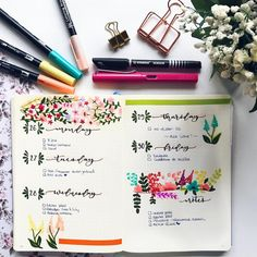 """861 Likes, 5 Comments - Bullet Journal & Beauty (@lacqueredworld) on Instagram: """"✖️ New Week planned in my Bullet Journal ✖️ . . #opozulo #oposiciones #lettering #opozuleando…"""""""