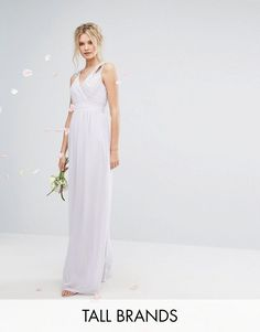Get this TFNC Tall's cocktail dress now! Click for more details. Worldwide shipping. TFNC Tall Wedding Wrap Front Maxi Dress With Embellishment - Purple: Tall dress by TFNC, Lined pleated chiffon, V-neck, Embellished detail to shoulders, V-back, Zip-back fastening, Regular fit - true to size, Hand wash, 100% Polyester, Our model wears a UK 8/EU 36/US 4 and is 180cm/5'11 tall. London label TFNC is renowned for its standout occasionwear. Step it up in sparkly fabrics, embellished styles and…