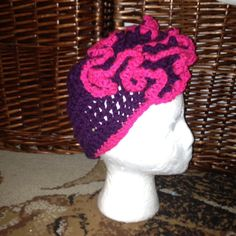 Cloche style hat with flower on Etsy, $15.00