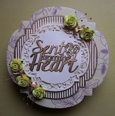 Jaye's Crafted Cards: Sent From the Heart Tonic Cards, Romantic Cards, Scrapbook Journal, Craft Tutorials, I Card, Cardmaking, Handmade Cards, Birthday, Crafts