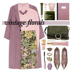 """""""Smell the Roses: Vintage Florals"""" by mylkbar ❤ liked on Polyvore featuring Tomas Maier, Topshop, Kim Rogers, Tabitha Simmons, AERIN, Origins, Chloé, OMEGA, Rituals and Yves Saint Laurent"""