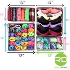 If you don't know how to use this kind of new collection storage box this morning, this pic will be … – Babykleidung & Kinderkleidung & Kindermode Sock Storage, Bra Storage, Bedroom Storage, Storage Boxes, Drawer Storage, Makeup Storage, Lingerie Organization, Closet Organization, Diy Organizer