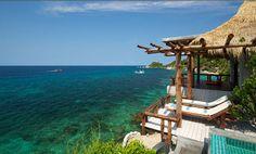 Luxury resort in Koh Tao Koh Tao, Lounge Areas, Luxury Life, Beach House, Pergola, Villa, Ocean, Outdoor Structures, Earth