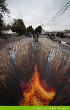 Terrifying, but mind-blowing street art.
