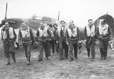 """Witold Łokuciewski -(Fourth From Right), ps. """"Tolo"""" (born 2 February 1917 in Novocherkassk, Russia, d. 17 April 1990 in Warsaw) - Colonel pilot of the Polish Army , Major ( called Squadron Leader ) Royal Air Force , fighter ace of World War II ."""