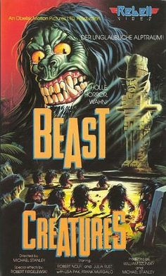 Attack of the Beast Creatures 1985. German vhs artwork.