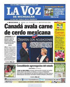 ¡Buenos días! Recuerda consultar la edición impresa de La Voz de Michoacán de este lunes 10 de octubre.