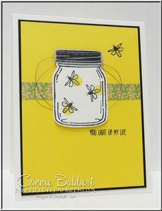 Jar of Love, Everyday Jar Framelits, fireflies, mason jar, Stampin' Up!, #stampinup, created by Connie Babbert, www.inkspiredtreasures.com