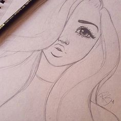Immagine correlata Zugehöriges Bild The post Zugehöriges Bild appeared first on Frisuren Tips - People Drawing Pencil Art Drawings, Cute Drawings, Art Sketches, Easy Hair Drawings, Art Drawings Easy, Girl Pencil Drawing, Easy Tattoos To Draw, Random Drawings, Amazing Drawings