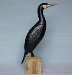 Cormorant on driftwood £140.00