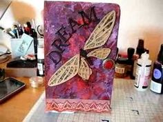 Art Journal Week 1: Altering The Cover  Anyone can do this and I mean anyone!  So get at it!