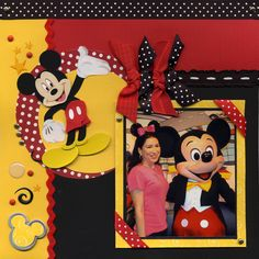 Mickey Red, Black & Yellow Left Page - Scrapbook.com