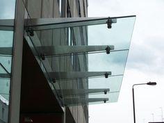 Doors and window canopy / glass / metal Glazing Innovations