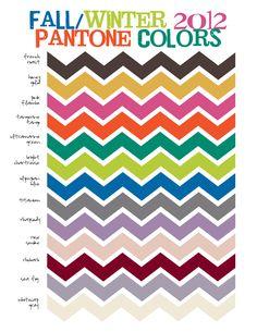 Color Forecast:  Top Pantone Colors for Fall/Winter 2012!  #premierdesigns