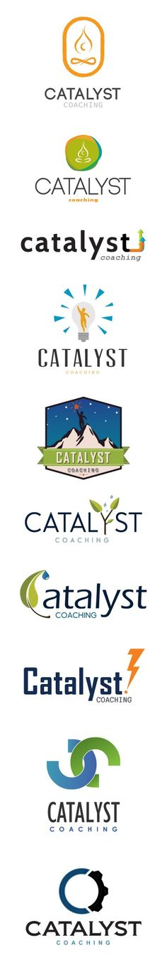 Logo mock ups for Catalyst Coaching