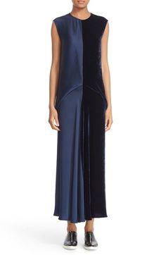 Stella McCartney Double Satin & Velvet Dress available at #Nordstrom