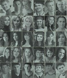 One Tree hill Through the years in Black and White Lucas, Peyton, Brooke, Haley, Nathan