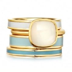 ASTLEY CLARKE / BLUE MOON RING STACK