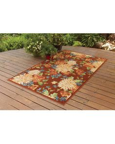 Better Homes and Gardens Indoor/Outdoor Watercolor Floral Polyester Area Rug, Coral, 5 x 8 Consider Indoor/Outdoor carpets if you have children or pets.Can we say EASY CLEANUP! Indoor Outdoor Carpet, Outdoor Rugs, Outdoor Gardens, Floral Area Rugs, Better Homes And Gardens, Floral Watercolor, Home And Garden, Wellness, Patio