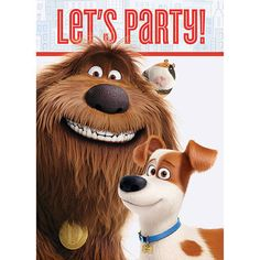 Invitations set the theme for your party. This set of 8 The Secret Life of Pets inviations will let guests know what the party is all about.