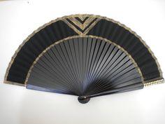 Black Gold Hand Fan Art Deco Bling  MTO by DengraDesigns on Etsy, $24.95
