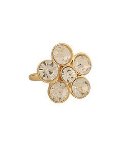 Rhinestone Flower Ring from Forever21.