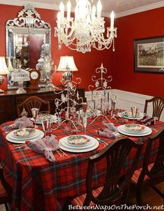 Winter Holiday Tablescape With Noritake Cher Blanc by Between Naps on the Porch