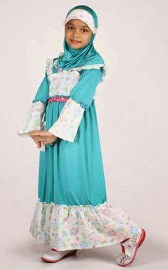 baju muslim untuk anak perempuan agar terlihat anggun dan cantik