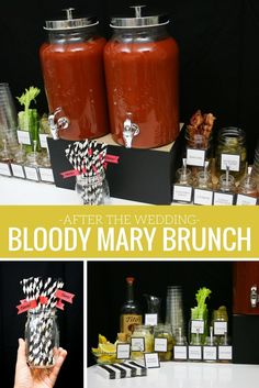Keep your wedding celebration going all weekend by hosting a brunch the day after your wedding! @savvybride created a Bloody Mary brunch your wedding guest will love, and you can see all the details on our blog.