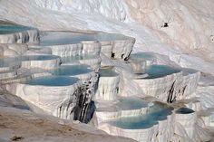 Pamukkale Water Terraces, Denizli, Turkey