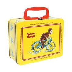 Kids' Lunch Boxes - Curious George Tin Keepsake Box with Latch by Schylling *** Read more at the image link. Retro Lunch Boxes, Tin Lunch Boxes, Metal Lunch Box, Tin Boxes, Curious George Party, Curious George Birthday, Restaurant Kit, School Lunch Box, School Lunches