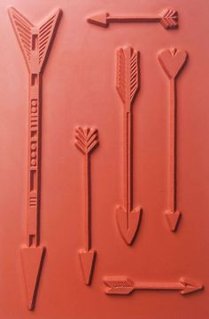 NEW! arrows- rubber stamp sheet