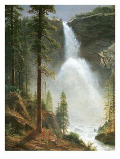 Nevada Falls by Albert Bierstadt