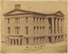 San Francisco, 1856. Photo by unknown. The Custom House.