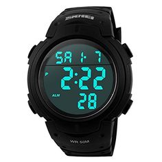 Men s Sport Watch by CIVO Multifunctional Military Waterproof Big Numbers  Digital Casual Business Watch Zsebórák 31e0626e57