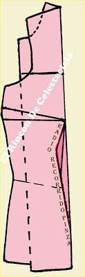 El Rincon De Celestecielo: Blusa básica manga sisa revocada, ampliando radio en pinza central