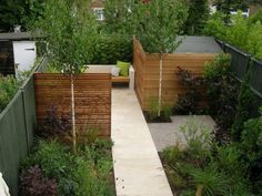 Narrow backyard