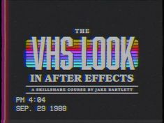 The VHS Look in After Effects skillshare analog retro motion graphics animation after effects Vaporwave, 3d Video, 80s Aesthetic, Web Design, Poster S, Glitch, After Effects, Retro Futurism, Grafik Design