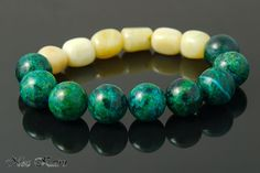 green and ivory bracelet
