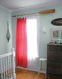 El remo en la cortina