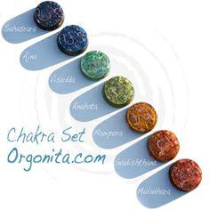 Set de chakras | orgonitas para terapia y armonia fisica o ambiental ---  http://www.orgonita.net/tienda/set-orgonita-chakras-personalizado.html