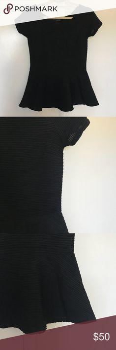 Zara black micro pleated peplum Super flattering with amazing micro pleat detail. Never worn! Zara Tops