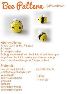 Mesmerizing Crochet an Amigurumi Rabbit Ideas. Lovely Crochet an Amigurumi Rabbit Ideas. Crochet Bee, Crochet Amigurumi Free Patterns, Cute Crochet, Crochet Crafts, Crochet Toys, Crotchet, Learn Crochet, Kawaii Crochet, Beginner Crochet