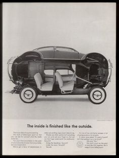 1962 VW Volkswagen Beetle Car Opened Up Photo Ad | eBay