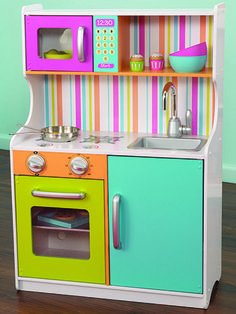 Modern and Retro Wood Play Kitchens for Toddlers | Compact Wood ...